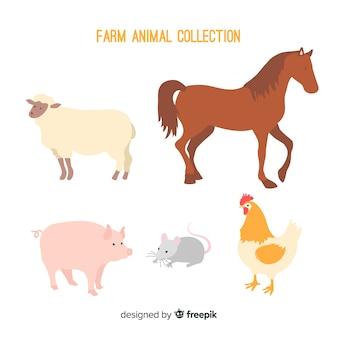 Collection d'animaux de la ferme