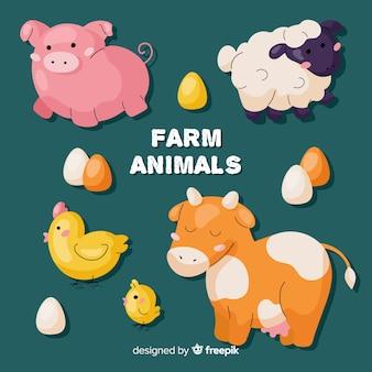 Collection d'animaux de ferme