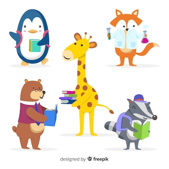 Collection d'animaux mignons d'apprentissage