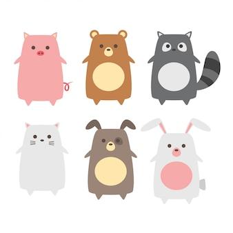 Collection d'animaux mignons bébé