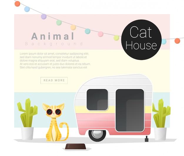 Collection d'animaux mignons maison de chat