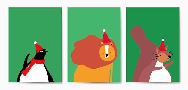 Collection d'animaux mignons en vecteur de style dessin animé