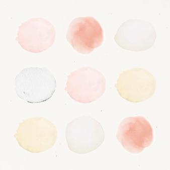 Collection d'aquarelles d'éléments de nuance pastel