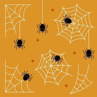 Collection d'araignées d'halloween plates