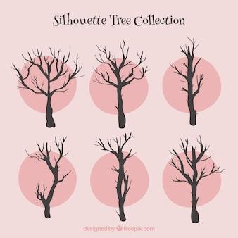 Collection d'arbres de silhouettes