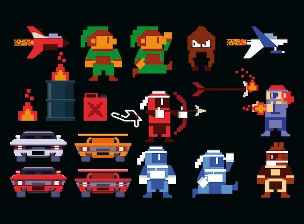 Collection d'arcade de jeux vidéo rétro