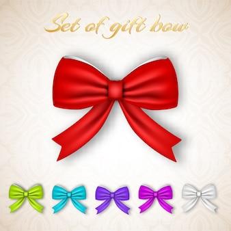 Collection d'arcs de ruban cadeau