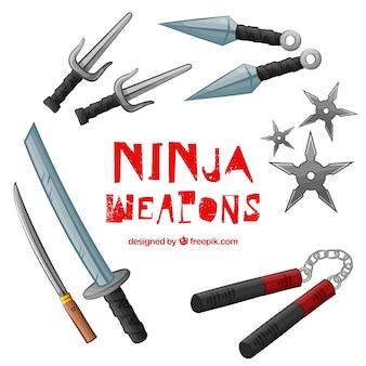 Collection d'armes ninja