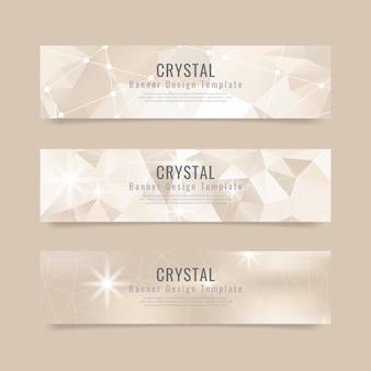 Collection d'arrière-plan cristal texturé
