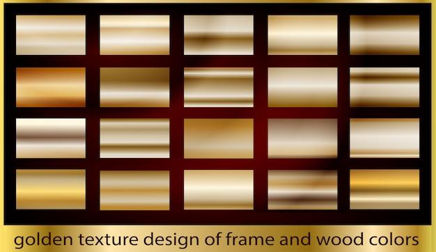 Collection d'arrière-plan de texture en métal doré