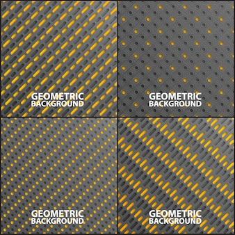 Collection d'arrière-plans géométriques.