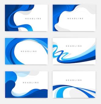 Collection d'arrière-plans de style minimal simple avec des lignes et des courbes