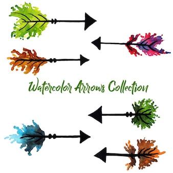 Collection arrows aquarelle
