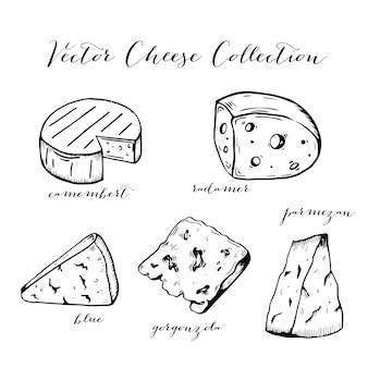 Collection d'art au trait de fromage