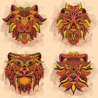 Collection d'art de lion
