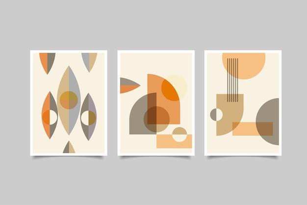 Collection d'art mural de couverture abstraite moderne