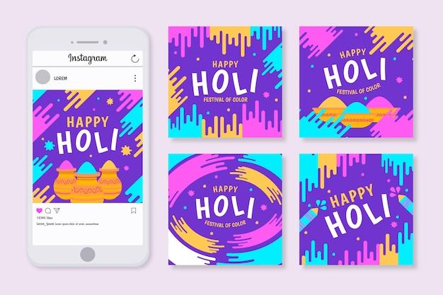 Collection d'articles du festival holi