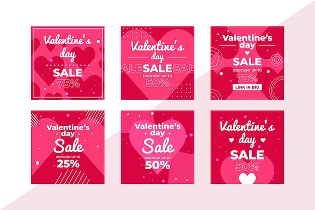 Collection d'articles de vente de la saint-valentin