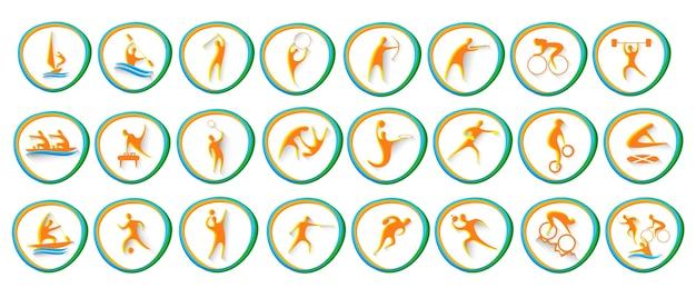 Collection d'athlètes de jeu d'icônes de sport