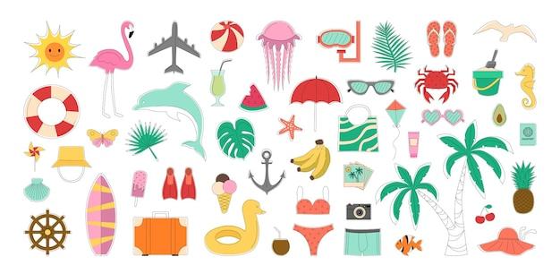 Collection d'attributs pour les loisirs en mer