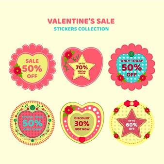 Collection autocollant de vente de valentine