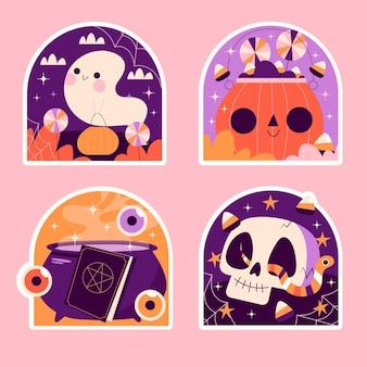 Collection d'autocollants halloween naïfs