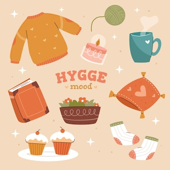 Collection d'autocollants hygge