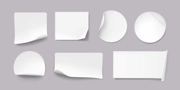 Collection d'autocollants en papier réaliste