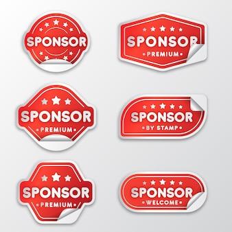 Collection d'autocollants de sponsor