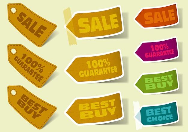 Collection d'autocollants à vendre