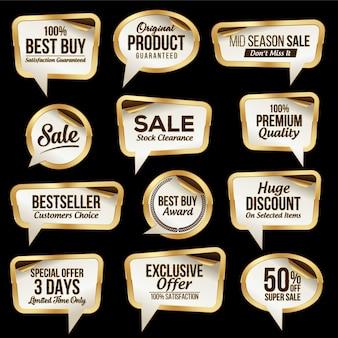 Collection d'autocollants de vente