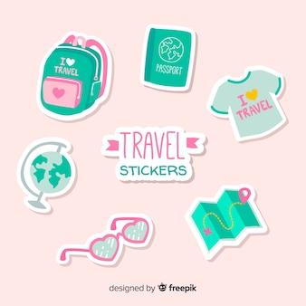 Collection d'autocollants de voyage