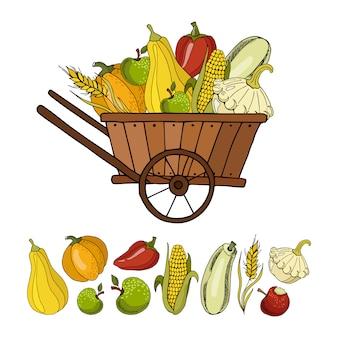 Collection d'automne de légumes