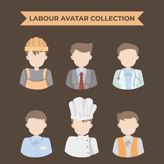 Collection d'avatar du travail