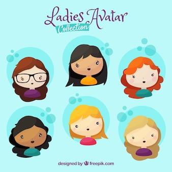Collection d'avatar féminin