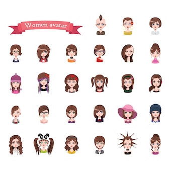 Collection avatar femme