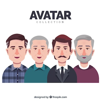 Collection d'avatar hommes adultes