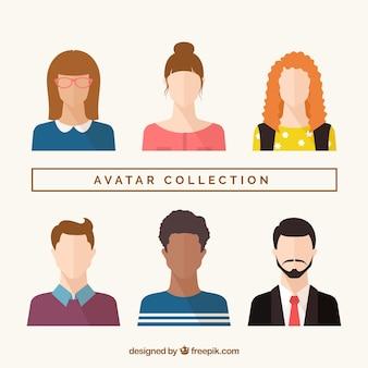 Collection d'avatar moderne avec design plat