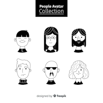 Collection d'avatar de personnes