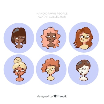 Collection d'avatar de personnes