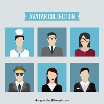 Collection d'avatar plat avec style moderne