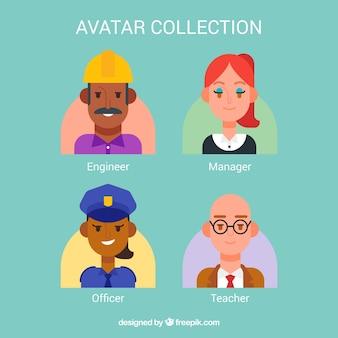 Collection d'avatar avec un style charmant