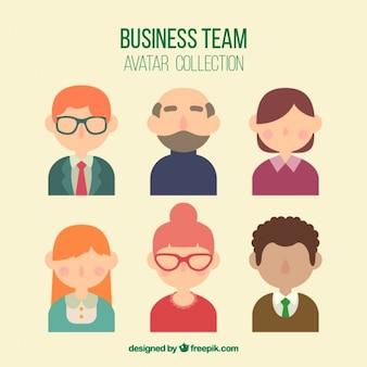 Collection avatar teamwork
