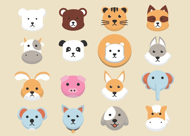 Collection d'avatars animaux