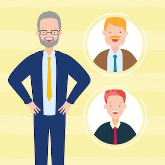 Collection d'avatars de l'homme