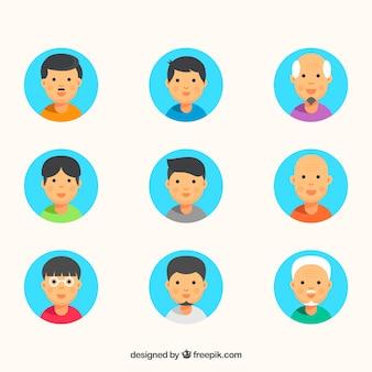 Collection d'avatars d'hommes