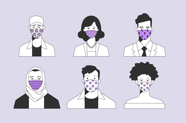 Collection d'avatars de personnes illustrées