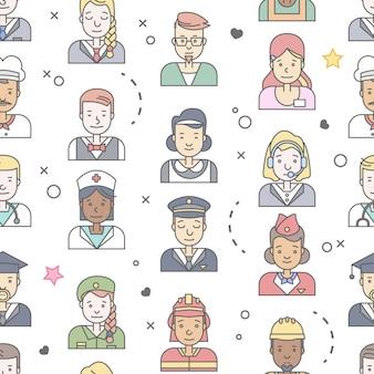 Collection d'avatars de personnes.