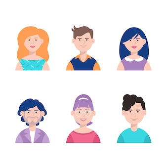 Collection d'avatars de personnes