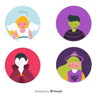 Collection d'avatars pour enfants costumes nuit d'halloween